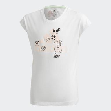 T-shirt Cleofus Blanc Filles Fitness Et Training