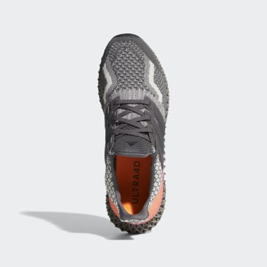 Men Running Grey Ultra 4D 5 Shoes