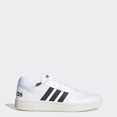 Sport Inspired White Hoops 2.0 Shoes