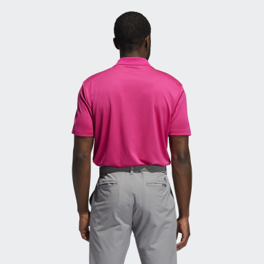 Men Golf Burgundy Performance Primegreen Polo Shirt