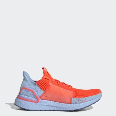 Men Running Orange Ultraboost 19 Shoes