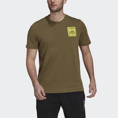 Άνδρες TERREX Πράσινο Terrex Patch Mountain Graphic Tee