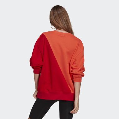 Women Originals Red Adicolor Sliced Trefoil Sweatshirt