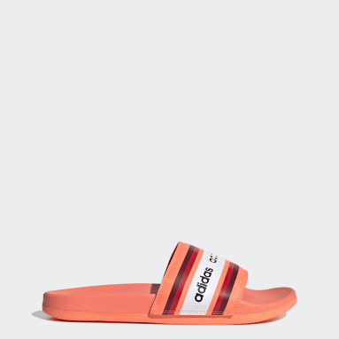 Women Swimming Orange FARM Rio Adilette Comfort Slides