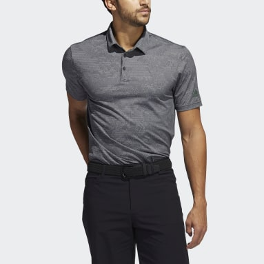 Men Golf Black Camo Polo Shirt