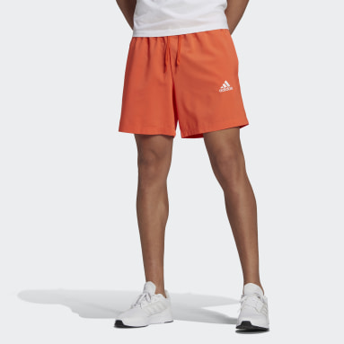 Men Sport Inspired Orange AEROREADY Essentials Chelsea Small Logo Shorts