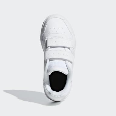 Children Sport Inspired White Hoops 2.0 Shoes