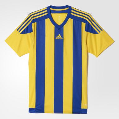 Camisa Listrada 15 Amarelo Homem Futebol
