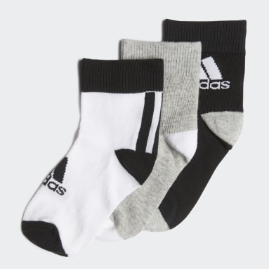 Youth 8-16 Years Gym & Training Black Ankle Socks 3 Pairs