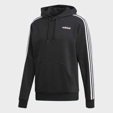Sweat-shirt à capuche Essentials 3-Stripes noir Hommes Essentials