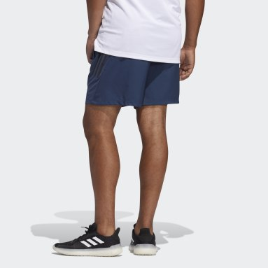 Men Running Blue AEROREADY 3-Stripes Slim Shorts