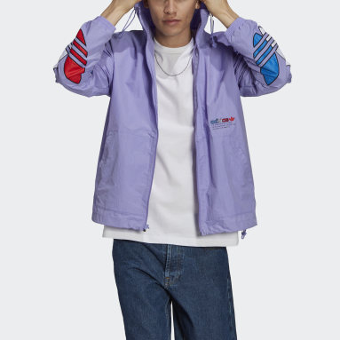 Men Originals Purple Adicolor Windbreaker