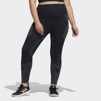 Women Gym & Training Black Formotion Sculpt Two-Tone Tights (Plus Size)