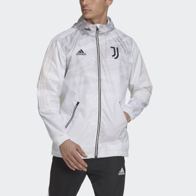 Men's Soccer White Juventus Windbreaker