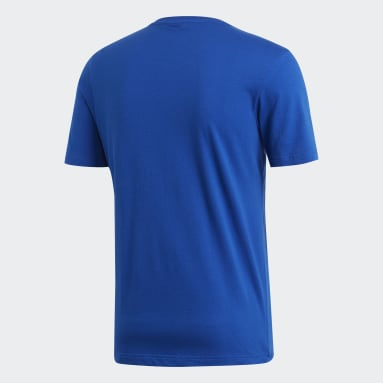 Playera Must Haves Emblem Azul Hombre Diseño Deportivo