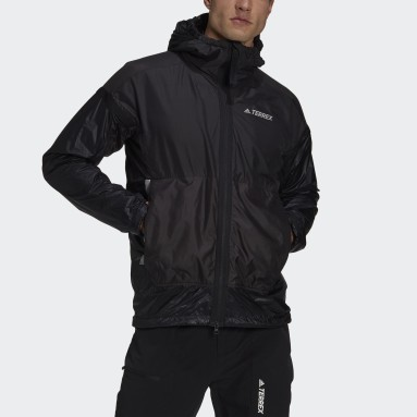 Men TERREX Black Terrex MYSHELTER Windweave Hooded Hiking Jacket