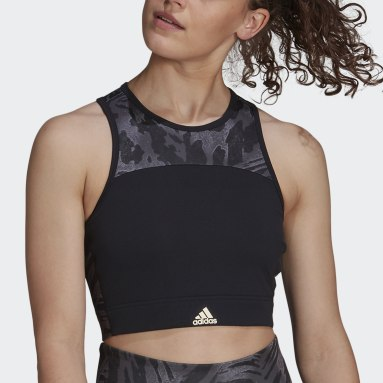 Women's Yoga Black Zoe Saldana AEROREADY Bra Top