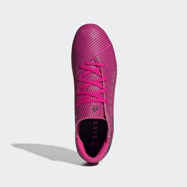 Calzado de Fútbol Nemeziz 19.4 Multiterreno Rosa Hombre Fútbol