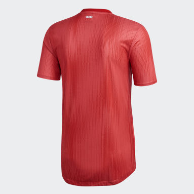 Heren Voetbal Rood Real Madrid Authentiek Derde Shirt