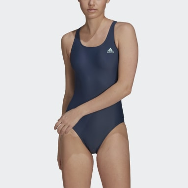 Women Swimming Blue SH3.RO Solid Swimsuit