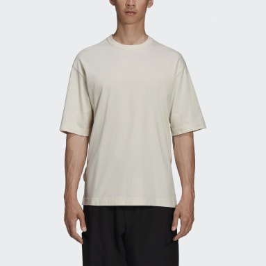 Men Y-3 Beige Y-3 CH3 Raw Jersey Graphic Short Sleeve Floral T-Shirt