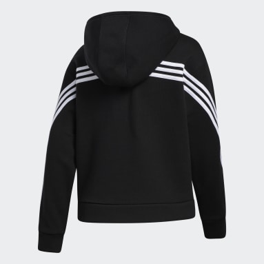 Youth Training Black Stripe Hoodie