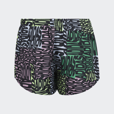 Youth Training Black Print Woven Shorts
