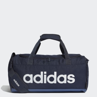 Lifestyle Blue Linear Logo Duffel Bag
