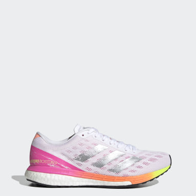 Women Running White Adizero Boston 9 Shoes