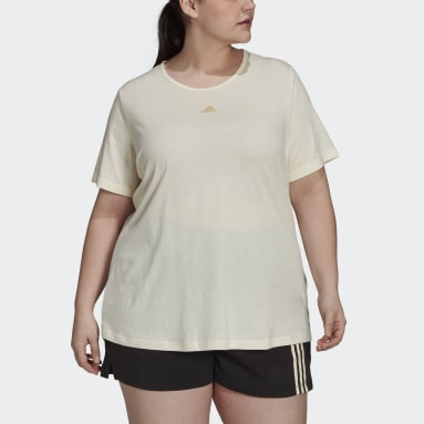 Women's Essentials White adidas x Zoe Saldana AEROREADY Tee (Plus Size)