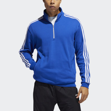 Quarter-Zip Football Jacket Niebieski