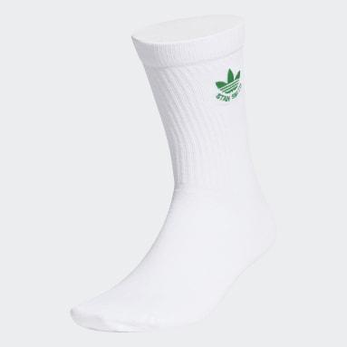 Originals สีขาว ถุงเท้า Stan Smith Trefoil