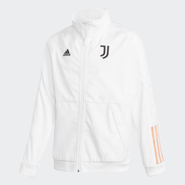 Kids Football White Juventus Anthem Jacket