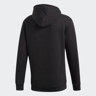 Sweat-shirt à capuche Trefoil noir Hommes Originals