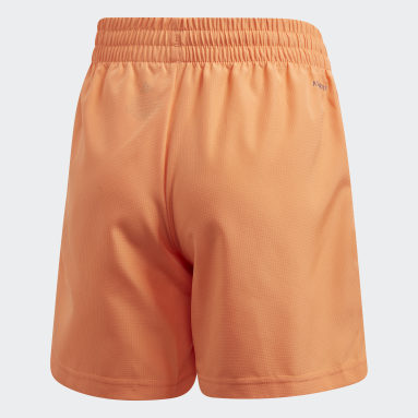 Youth 8-16 Years Padel Tennis Orange Club Shorts