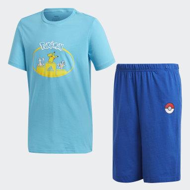 Conjunto de Shorts y Remera Pokémon Turquesa Niño Training