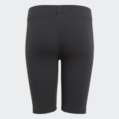 Mädchen Sportswear Essentials 3-Streifen kurze Tight Schwarz