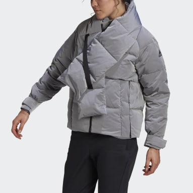 Glam On Puffer Down Jacket Bialy