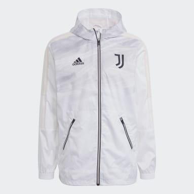 Männer Fußball Juventus Turin Windbreaker Weiß