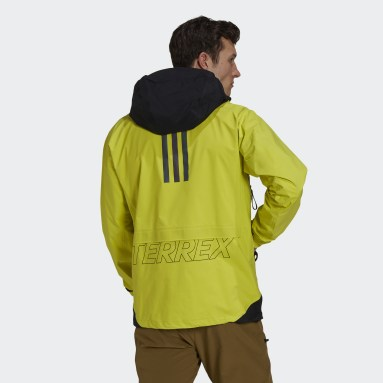 Men TERREX Yellow Terrex MYSHELTER GORE-TEX Active Rain Jacket