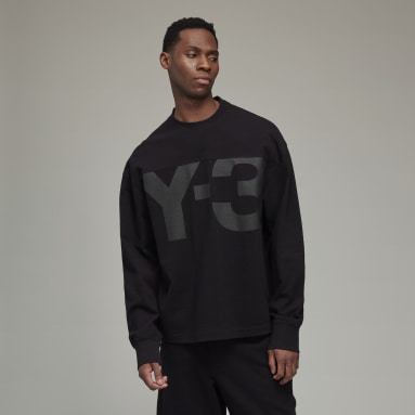 Men Y-3 Black Y-3 Classic Heavy Piqué Crew Sweatshirt