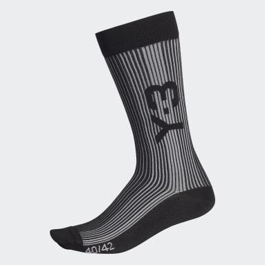 Women's Y-3 Black Y-3 Ribbed Socks