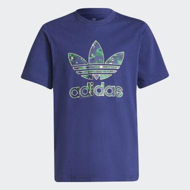 Boys Originals Blue Allover Print Camo Graphic T-Shirt
