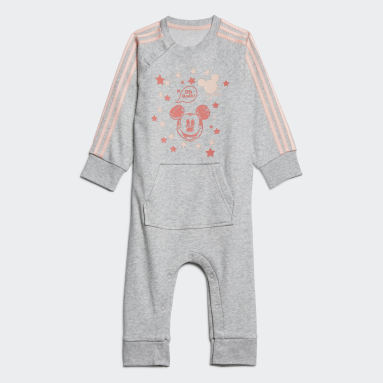 Infants Training Grey Mickey Mouse Onesie