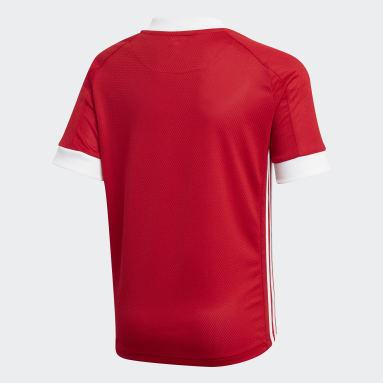 Børn Fodbold Rød Aberdeen FC hjemmebanetrøje