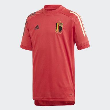 Kinder Fußball Belgien Trainingstrikot Rot