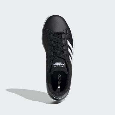 Women Sport Inspired Black Grand Court Base Shoes