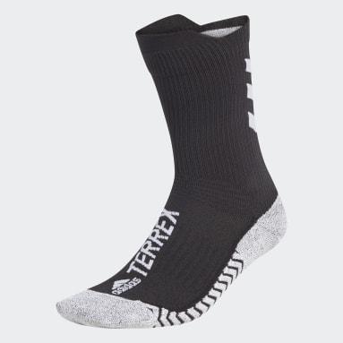 TERREX Sort Terrex Techfit Primegreen Traxion Crew sokker