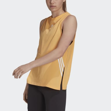 Women Sportswear Orange Oversize Tank Top