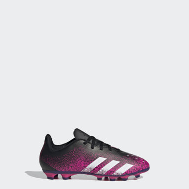 Boys Football Pink Predator Freak.4 Flexible Ground Boots